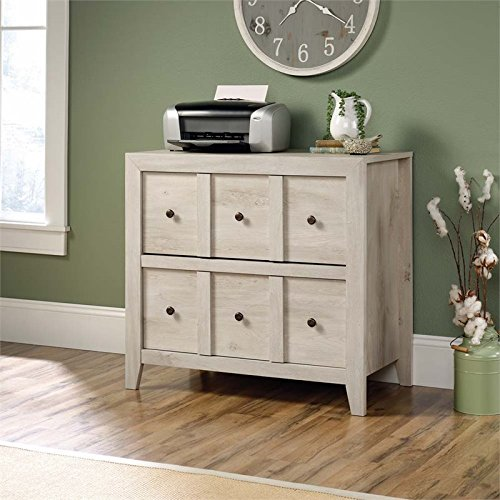Sauder Dakota Pass 2 Drawer File Cabinet TV Stand in Chalked Chestnut by Sauder