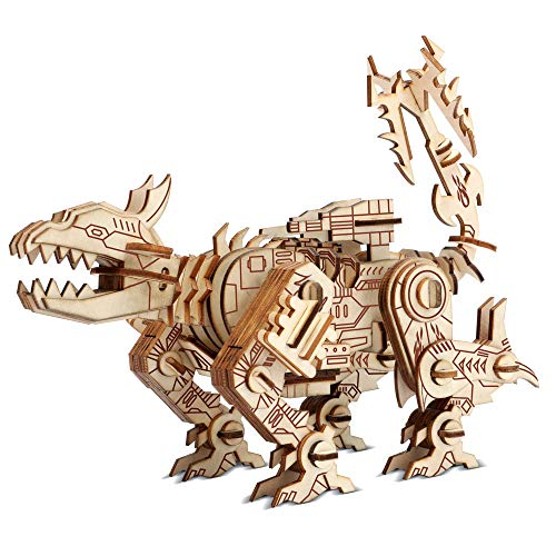 Wooden Model, 3D DIY Woodcraft Laser Cut Kit Puzzles, Greenlf Brain Teaser Assembly Animal Dog Toys for Adults Teen Kids, Best Family Fun Gifts