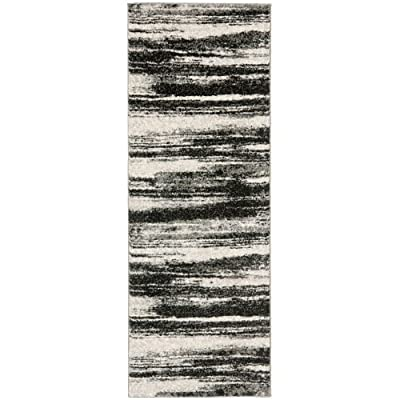 Safavieh Retro Collection RET2866-1379 Abstract Beige and Light Grey Square Area Rug (8' Square) -  - runner-rugs, entryway-furniture-decor, entryway-laundry-room - 51NqMv2lv1L. SS400  -