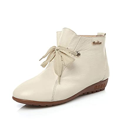 800285d7029dd Amazon.com: Hy Women's Casual Shoes,Fall/Winter Leather Comfort Lace ...