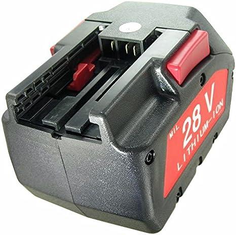 Batería para MILWAUKEE M28, Würth 0700 956 730 28 V 3000 mAh ...