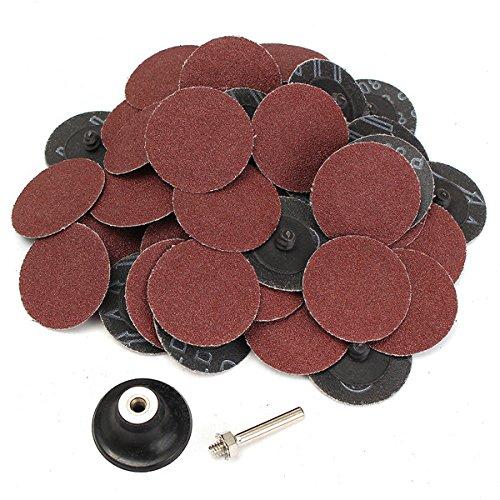 50pcs 80 Grit 2 Inch Roll Lock Sanding Disc Abrasive Tool OlogyMart