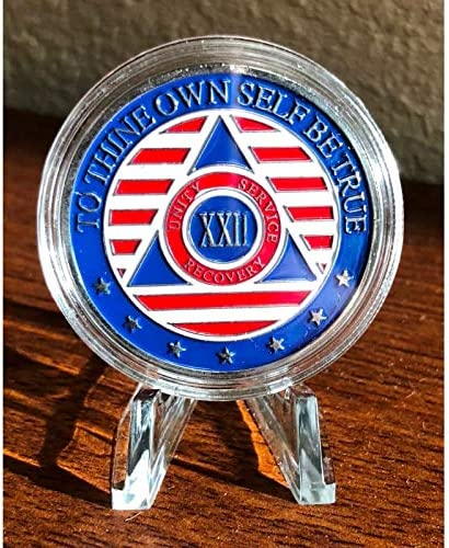 31 Year Alcoholics Anonymous Chip 7th Step Prayer on Back w//Coin Capsule