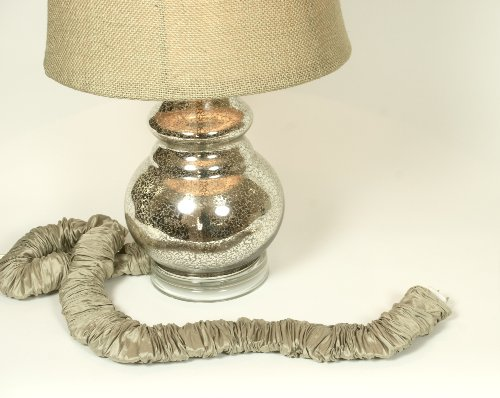 Putty Silk Lamp Cord Cover 9 ft long 100% REAL SILK