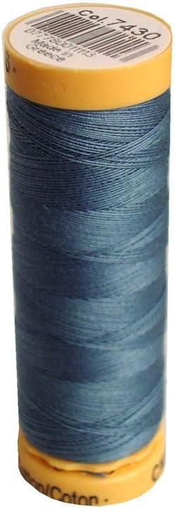 Gutermann 103C-7532 Thread Natural Cotton 110 Yards-Blue Bead