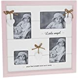Little Angel ~ Baby Girl HEARTS Collage Multi 4 Pic Pink Photograph Photo Frame by Provence Collection