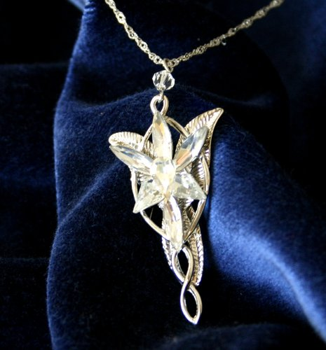 Silver Plated Arwen Evenstar Pendant Necklace Lord of The Rings LOTR ()