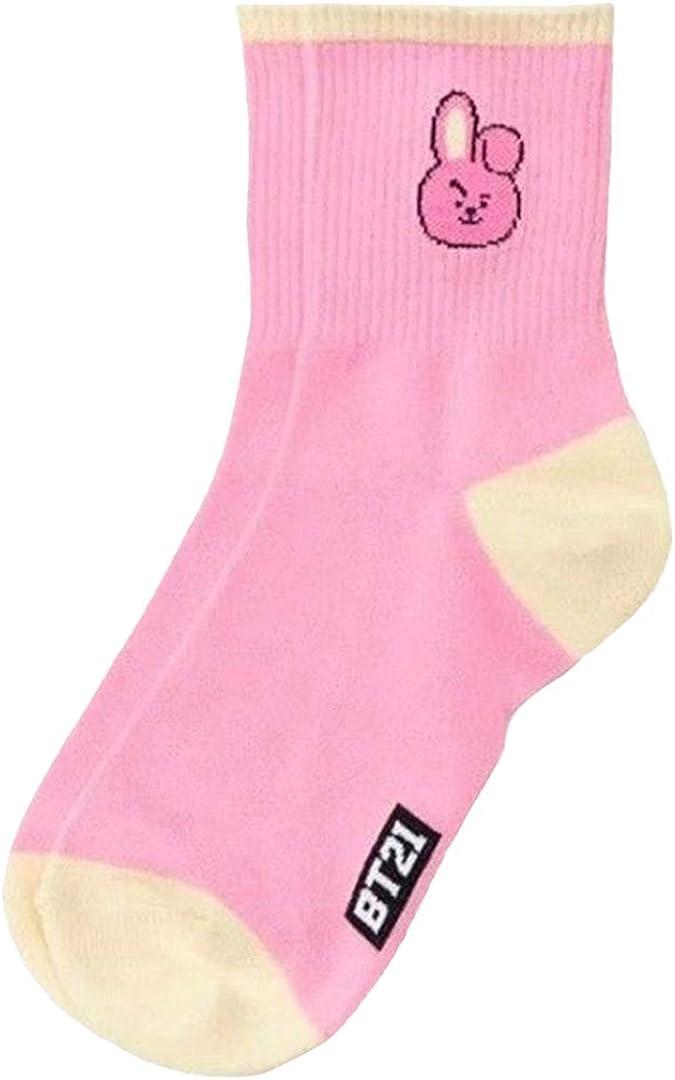 Silver Basic Kpop Stern Bts Fan Socken BTS Gedruckt M/ädchen Damen Nette Socken