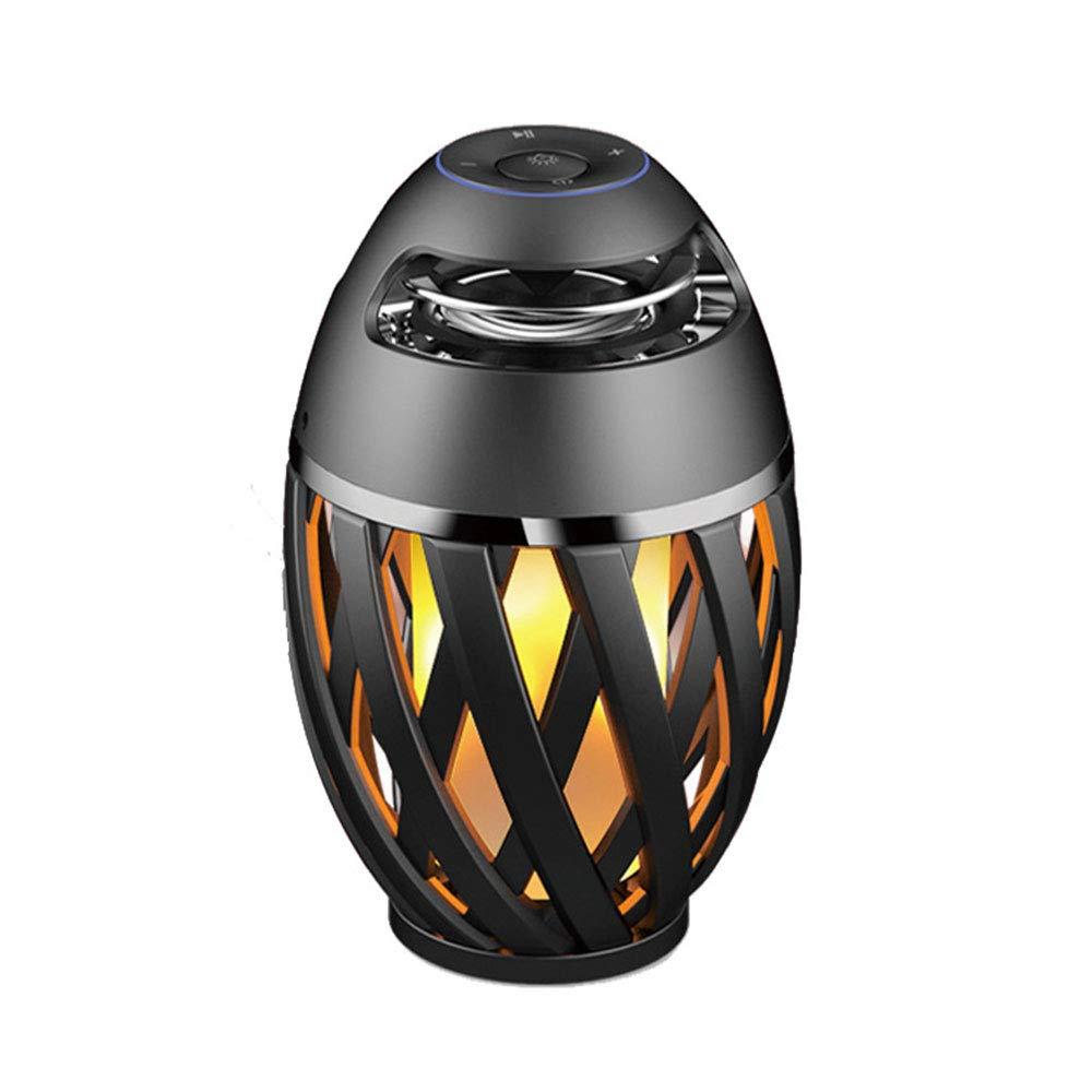 JTWJ Kreative mode wasserdicht und staubdicht Blautooth lautsprecher led flamme licht cafe bar Atmosphäre licht werbegeschenk lichter (12X18,6 cm)
