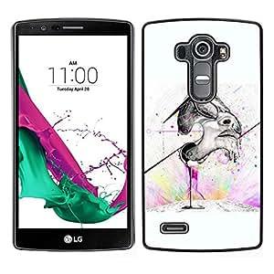 // PHONE CASE GIFT // Duro Estuche protector PC Cáscara Plástico Carcasa Funda Hard Protective Case for LG G4 / Graffiti Street Art Face /