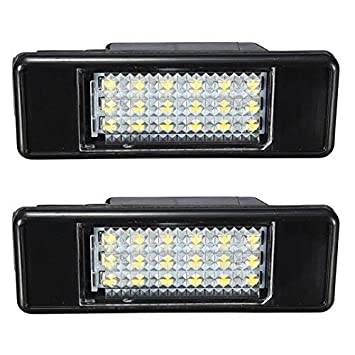 KATUR 2x blanco 18SMD LED luz de la matrícula para Peugeot 106 207 307 308 406 407 508 Car Styling: Amazon.es: Coche y moto