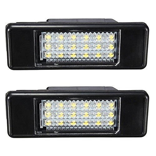 Katur 2 x weiß e Kennzeichenbeleuchtung mit 18SMD LED fü r Peugeot,  Autostyling