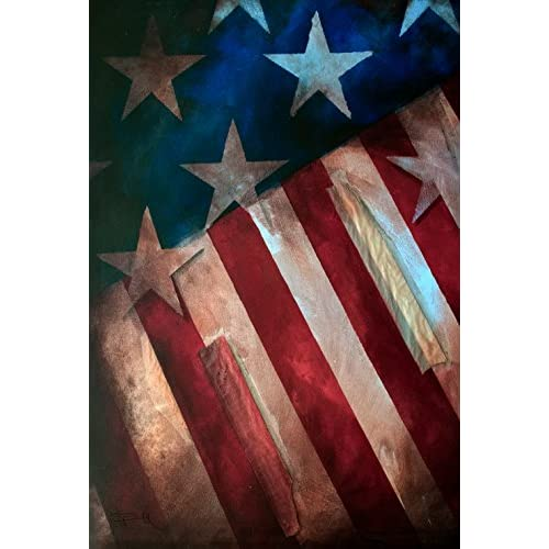 "Toland Home Garden Still Standing Decorative USA-Produced House Flag, 28"" x 40"""