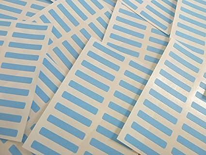 Petit 30x5mm Rectangulaire Code Couleur Stickers - Paquets de 200 En couleur Rectangle étiquettes autocollantes - 30 Couleurs Disponible - Rouge Minilabel