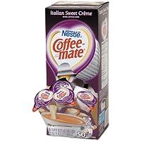 Coffee-Mate Italian Sweet Crème Liquid Creamer Single-Serve Cups, 0.38 Oz, Box Of 50 Cups