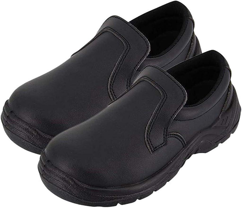 Men Women Comfort Slip-On Kitchen Work Shoes Slip Resistant Soft Bottom Chef Nurse Clogs Safety Work Shoes
