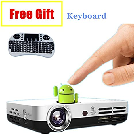 nierbo Mini proyector 3d con Android Bluetooth inalámbrico Home ...