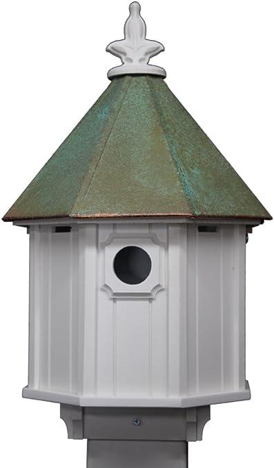 Octagon Bird House Song Cellular Pvc Copper Roof Made In The Usa Outdoor Decor Patio Lawn Garden Ilsr Org