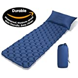 OFTEN Camping Sleeping Pads Ultralight Air Mat Portable Air Sleep Mat Lightweight Inflatable Camping Sleeping Gear Pad with Pillow Air-Support Cells Design