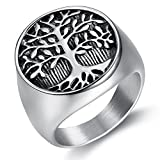 Mens Rings Stainless Steel Tree of Life Size 7-15(12)