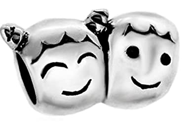 85c931557 Sister and Brother Family Charm Bead 925 Sterling Silver Fits Pandora Charm  Bracelet: Amazon.co.uk: Jewellery