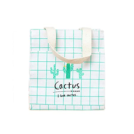 Scrox 1pcs Bolsas de Tela Algodón y Lino Tote Bag Serie de Cactus ...