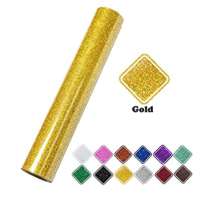 """VINYL FROG Glitter Heat Transfer Vinyl Roll 10""""x60"""" For Silhouette Cameo Heat Press and Cricot Machines"""
