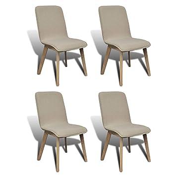 Amazon.com: SKB - Juego de 4 sillas de comedor de roble con ...