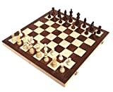 "Toys : Chess Armory 15"" Wooden Chess Set with Felted Game Board Interior for Storage"