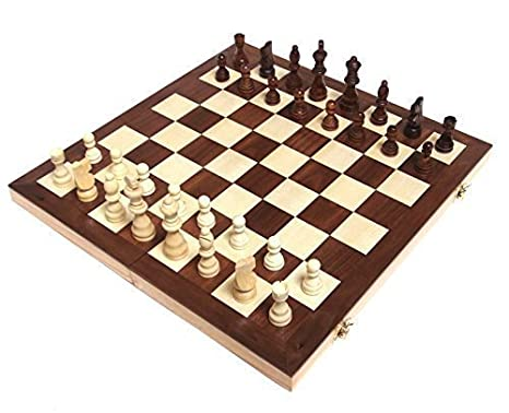Amazoncom Chess Armory 15 Wooden Chess Set With Felted Game Board