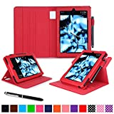 Kindle Fire HD 7 2014 Case, roocase Dual View 2014 Fire HD 7 Folio Case with Sleep / Wake Smart Cover with Multi-Viewing Stand for Amazon Kindle Fire HD 7 Tablet (4th Generation - 2014 Model), Red