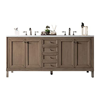 James Martin Furniture Chicago 72 Double Vanity White Washed
