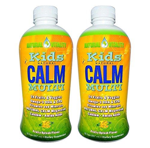 Natural Vitality Kids Natural Calm Multi, Organic Fruity Splash Flavor, 30 Ounce, - Fruity Flavors