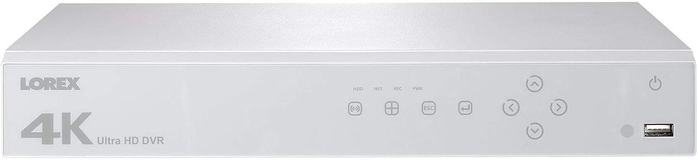 Lorex LHV51082TW 4K Ultra High Definition 8 Channel, 2TB Hard Drive Digital Video Surveillance Recorder (DVR), White