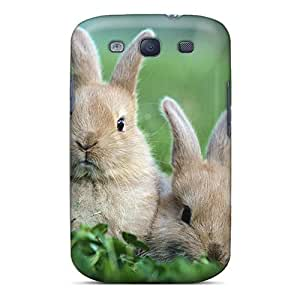 Premium Tpu Rabbit On The Grass Cover Skin For Galaxy S3