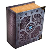 Wizardry Foundry Grimoire Artificer Wooden Spell-book Style Deck Box for over 350 Card Capacity