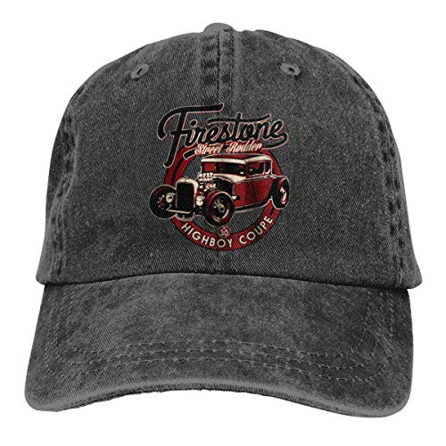 Luxendary Mens&Women's Logo Highboy Coupe Hot Rods Unisex Comfortable Cap with Adjustable Strap Black