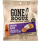 Gone Rogue High Protein Chicken Bacon Chips | Low Carb, Gluten Free Snacks | 8 pack