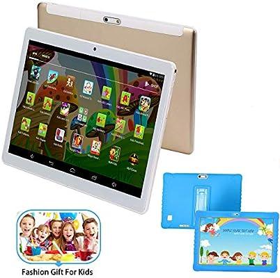 Tablet 10 Pulgadas HD -32GB ROM/64GB, 4G/WiFi/OTG Android 7.1 Tablet PC Octa-Core 8500mAh Dual SIM 8MP Cámara 2GB de RAM Bluetooth/GPS Juego de ...