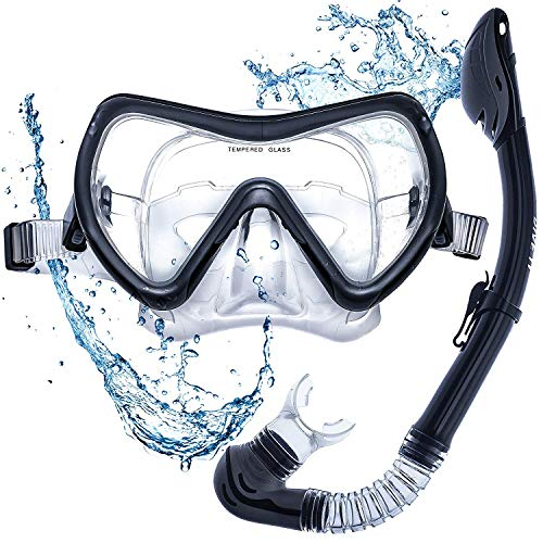 RYTEK Dive IT Snorkel Mask - Snorkel Set - Scuba Mask with Dry Snorkel Anti-fogging Lens & Dual Strap System