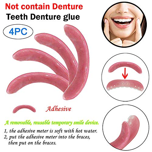 YunZyun Trusted Teeth whitening Cosmetic .Natural,Comfort Teeth Adhesive Tape, Fit at Home DOTT Yourself Smile Makeover-with Free Dental Tools(4pc) (Pink) (Adhesive Moldable Strips)