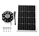 Amtrak Solar Powerful 50-Watt with 12 inch Solar Roof, Attic, Exhaust Fan Quietly Cools and Ventilates your house, garage, RV or boat and protects against moisture build-up