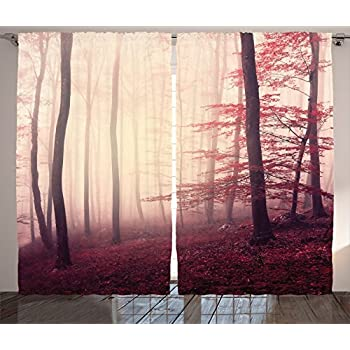 Amazon Com Curtains For Living Room By Ambesonne Fall