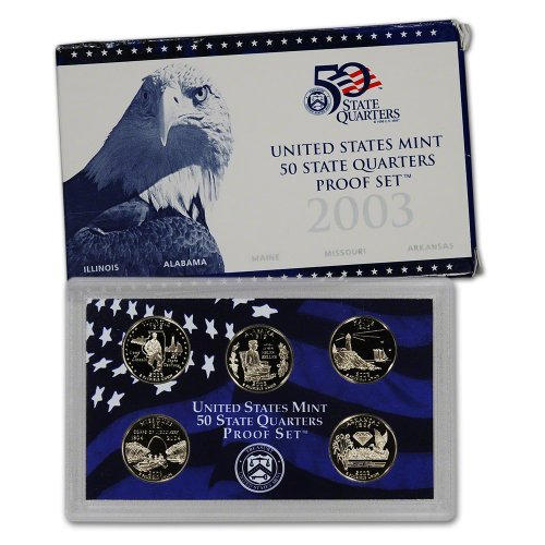 2003 S US Mint Quarters Proof Set Original Government Packaging (1999 Us Mint Quarter)