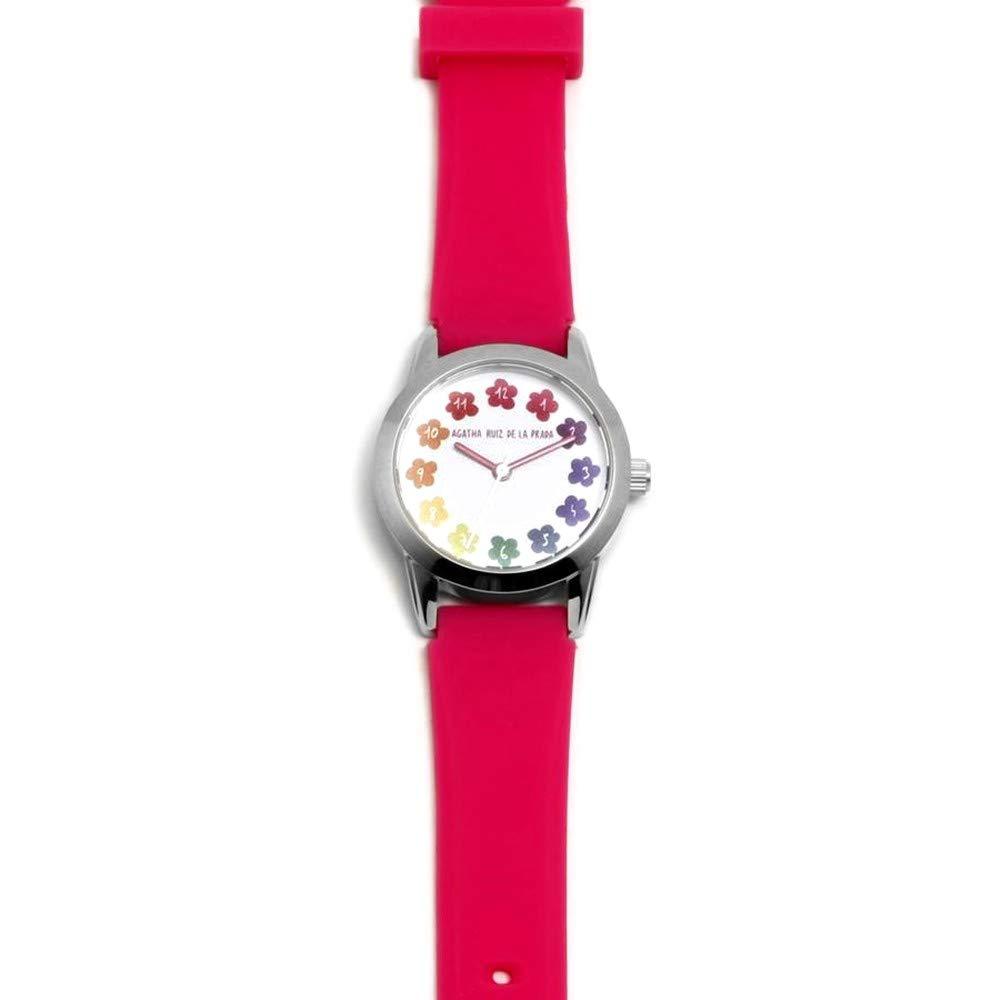 Agatha Ruiz de la Prada Reloj para Niño Analógico Cuarzo japonés con Correa de Silicona AGR256: Amazon.es: Relojes
