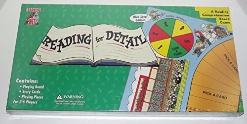 Games Well Learning Reading Comprehension - Reading for Detail , Blue Level Edition- A Reading Comprehension Board Game