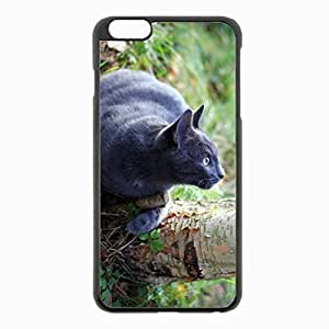 iPhone 6 Plus Black Hardshell Case 5.5inch - tree grass think watch Desin Images Protector Back Cover