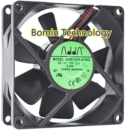 Bomin Technology for ADDA AD0812HX-A70GL 12V 0.25A 8CM 8025 Chassis Power Cooling Fan