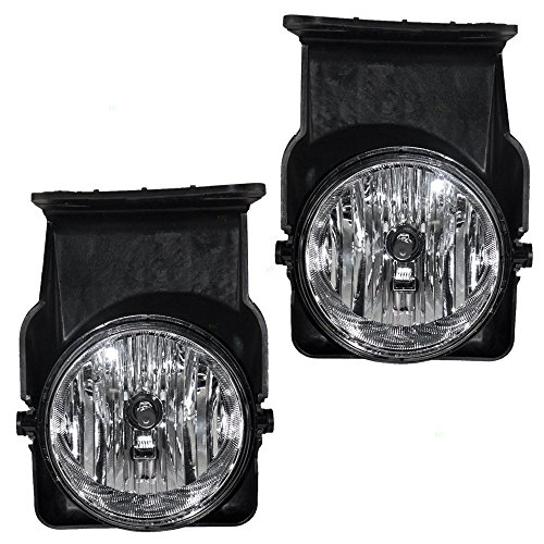 BROCK Driver and Passenger Fog Lights Lamps Replacement for GMC Pickup Truck 15776380 15776383 -