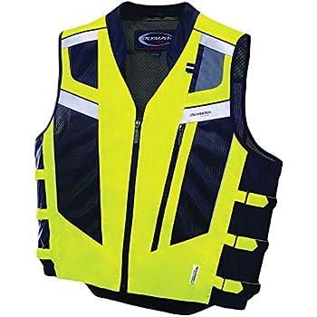 d7a48faa04 Olympia Moto Sports 243-306013 MV306 Blaze Hi-Viz Safety Vest (Neon Yellow/ Black, Medium/Large)